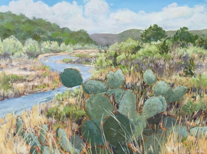 """Llano River 12""""x16"""" $350"""